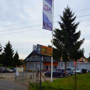AutogazWiry - widok na firmę od ulicy